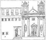 Foto 38 bis - Monastero e Chiesa del SS. Salvatore antico prospetto